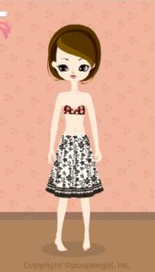 Cool flower skirt / bk10DJ
