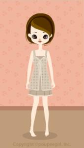 Natural cotton dress / bg09G