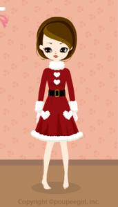 Girly Santa Dress / Rd09L
