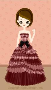 Check ribbon dress / 09F