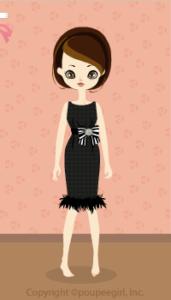 Stripe chiffon dress / bk10C
