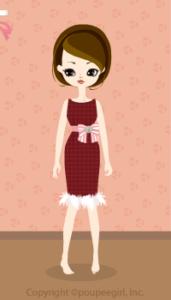 Stripe chiffon dress / rd10C