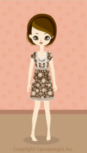 Girly flower dress / br09H