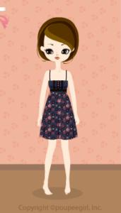 Flower camisole dress / nv09IJ