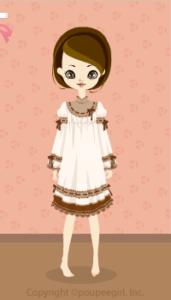 Chocolate stitch dress / wh10CJ