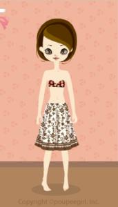 Cool flower skirt / br10DJ