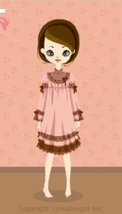 Chocolate stitch dress / pk10CJ