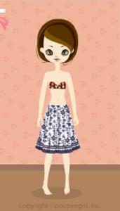Cool flower skirt / nv10DJ
