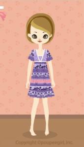 Animal motif dress / pr10DJ