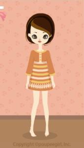 Retro mode dress / or10C