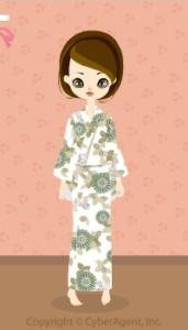 Summer Kimono-butterfly / 13H