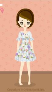 Flower Chiffon dress / bl13H