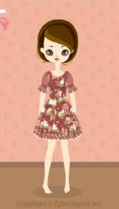 Flower chiffon dress / rd13H