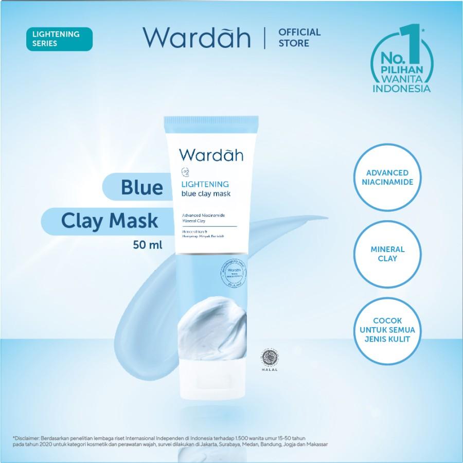 Wardah Lightening Blue Clay Mask