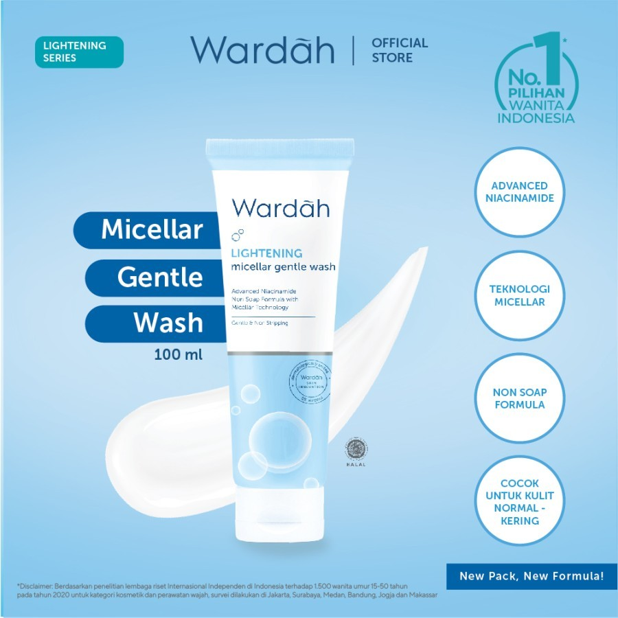 Wardah Lightening Micellar Gentle Wash