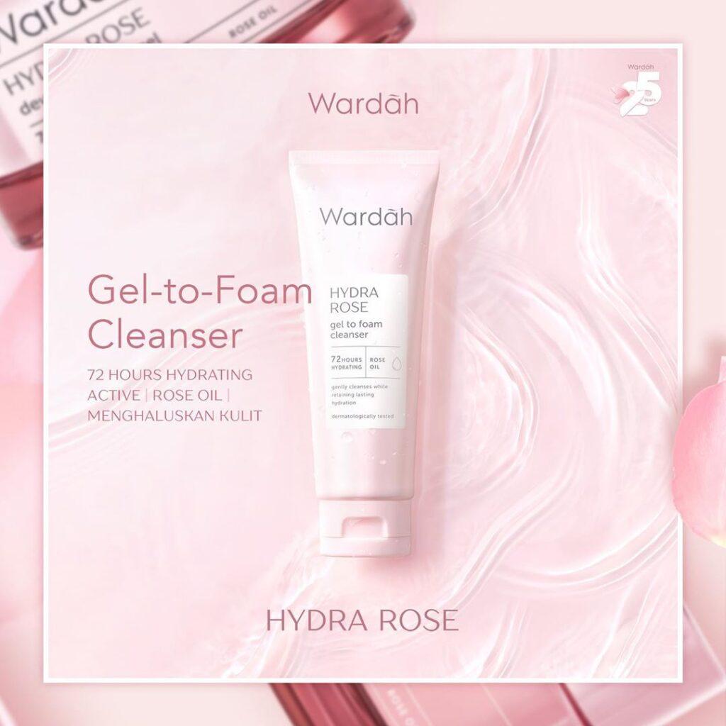 Wardah Hydra Rose Gel-to-Foam Cleanser